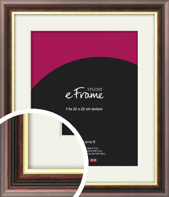 Award Style Brown Picture Frame & Mount, 20x25cm (8x10