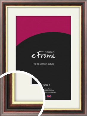 Award Style Brown Picture Frame & Mount, 20x30cm (8x12