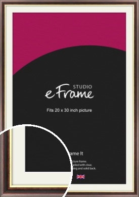 Award Style Brown Picture Frame & Mount, 20x30