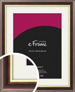 Award Style Brown Picture Frame & Mount, 21x28cm (VRMP-305-M-21x28cm)