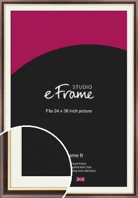 Award Style Brown Picture Frame & Mount, 24x36