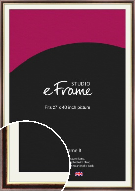Award Style Brown Picture Frame & Mount, 27x40