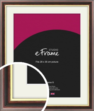 Award Style Brown Picture Frame & Mount, 28x35cm (VRMP-305-M-28x35cm)