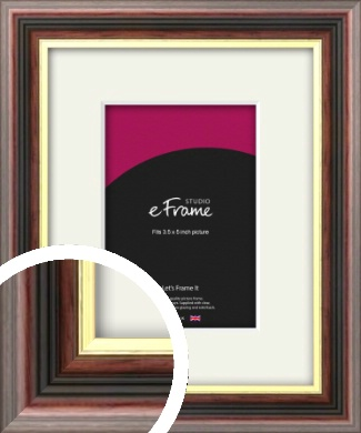Award Style Brown Picture Frame & Mount, 3.5x5