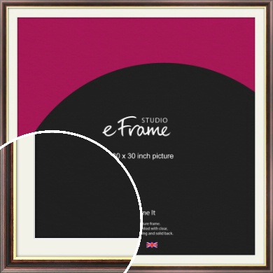 Award Style Brown Picture Frame & Mount, 30x30