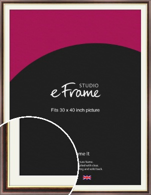Award Style Brown Picture Frame & Mount, 30x40