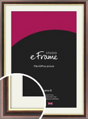 Award Style Brown Picture Frame & Mount, A3Plus (VRMP-305-M-329x483mm)