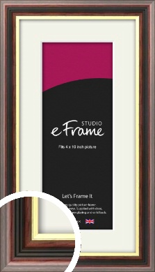Award Style Brown Picture Frame & Mount, 4x10