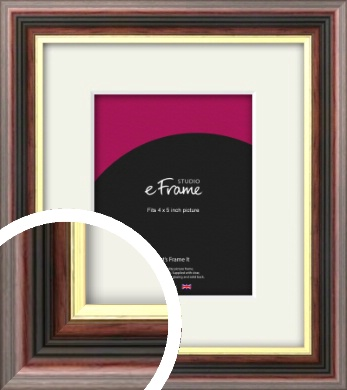 Award Style Brown Picture Frame & Mount, 4x5