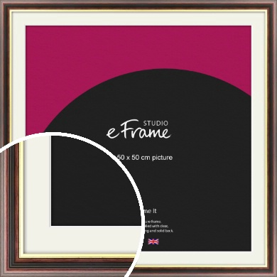 Award Style Brown Picture Frame & Mount, 50x50cm (VRMP-305-M-50x50cm)