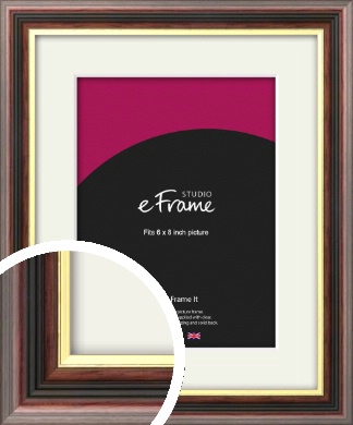 Award Style Brown Picture Frame & Mount, 6x8