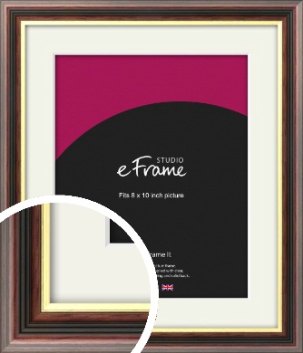 Award Style Brown Picture Frame & Mount, 8x10
