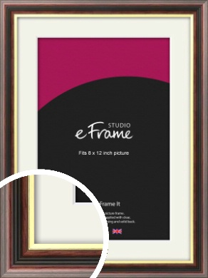 Award Style Brown Picture Frame & Mount, 8x12
