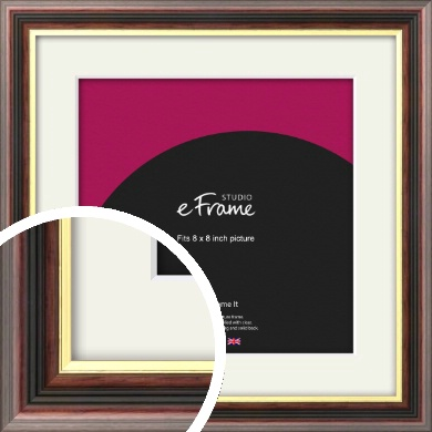 Award Style Brown Picture Frame & Mount, 8x8
