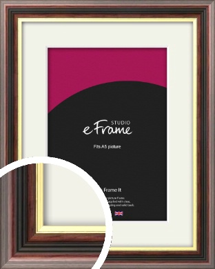 Award Style Brown Picture Frame & Mount, A5 (148x210mm) (VRMP-305-M-A5)