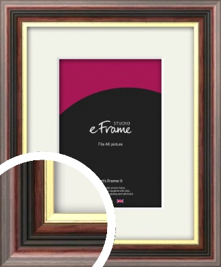 Award Style Brown Picture Frame & Mount, A6 (105x148mm) (VRMP-305-M-A6)