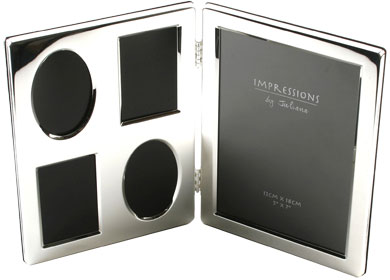 Impressions Hinged Silver Photo Frame, 2 Photos (3497)