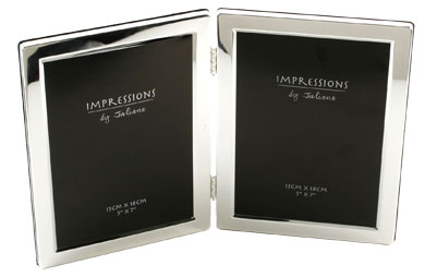 Impressions Hinged Silver Photo Frame, 2 Photos (3498)