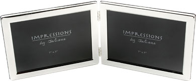 Impressions Hinged Silver Photo Frame, 2 Photos (3498L)