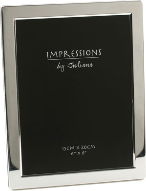 Impressions Flat Silver Photo Frame 6x8 Eframe