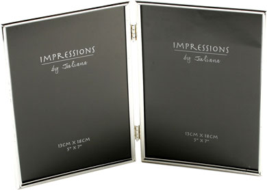 Impressions Hinged Silver Photo Frame, 5x7