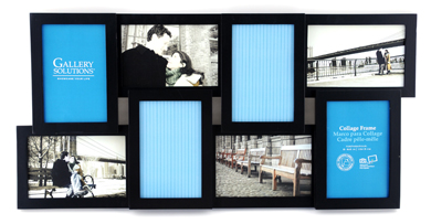 28.5x58.5cm Nielsen Gallery Black Collage Picture Frame, 8 Photos (R8999008)