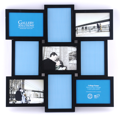 52.5x52.5cm Nielsen Gallery Black Collage Picture Frame, 9 Photos (R8999009)