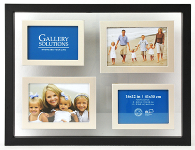 33x43cm Nielsen Gallery Black Float Picture Frame, 4 Photos (R8999011)