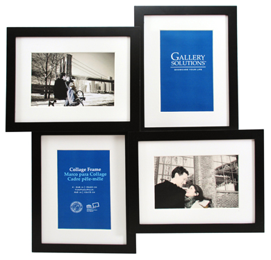 43x43cm Nielsen Gallery Black Picture Frame & Mount, 4 Photos (R8999019)