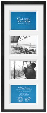 25x60cm Nielsen Gallery Black Picture Frame & Mount, 4 Photos (R8999020)