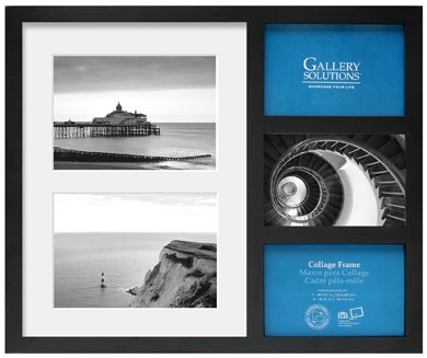 36x43cm Nielsen Gallery Black Collage Picture Frame & Mount, 5 Photos (R8999021)