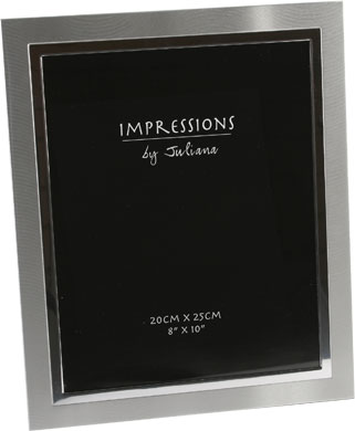Impressions Two Tone Silver Photo Frame, 8x10