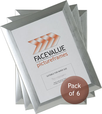 Cheap Picture Frame Photo Frame In Flat Silver Size A4 Pack Of 6