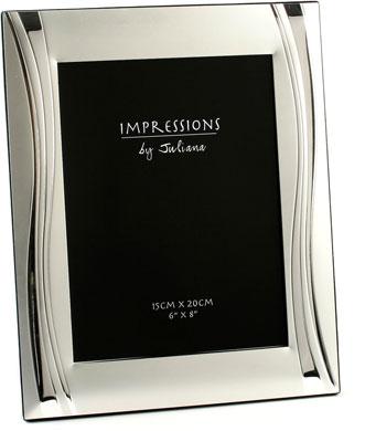 Impressions Wavy Silver Photo Frame, 6x8
