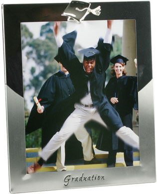 Impressions Mortar Board Graduation Silver Photo Frame (FS477)