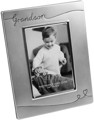 Impressions Grandson & Heart Silver Photo Frame (FS624)