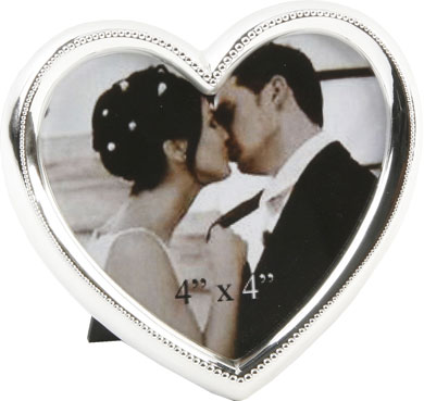 Impressions Heart Shape Silver Photo Frame (FS990)
