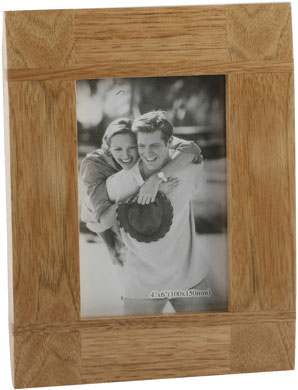 Impressions Cross Baton Natural Wood Photo Frame (FW67646)