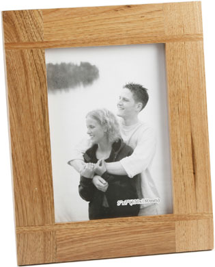 Impressions Cross Baton Natural Wood Photo Frame, 5x7