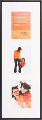 60x20cm Nielsen Gallery Junior Black Picture Frame & Mount, 3 Photos (R560521)