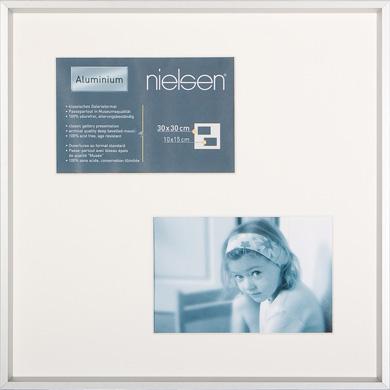 30x30cm Nielsen Gallery Junior Silver Picture Frame & Mount, 2 Photos (R561204)