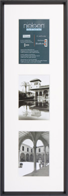 60x20cm Nielsen Gallery Black Picture Frame & Mount, 3 Photos (R562121)