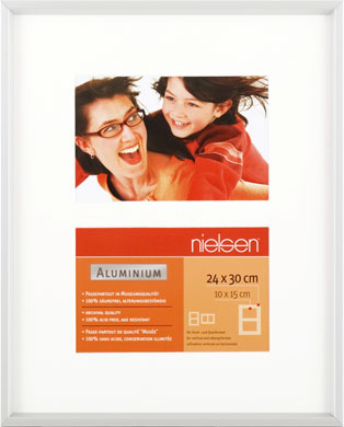 30x24cm Nielsen Gallery Junior Silver Picture Frame & Mount, 2 Photos (R563904)