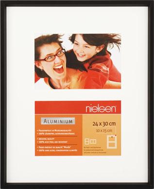 30x24cm Nielsen Gallery Junior Black Picture Frame & Mount, 2 Photos (R563921)