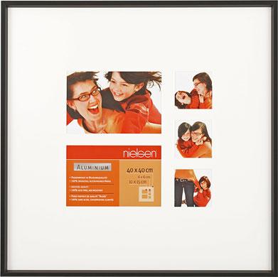 40x40cm Nielsen Gallery Junior Black Picture Frame & Mount, 5 Photos (R564921)