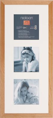60x25cm Nielsen Essentielles Birch Picture Frame & Mount, 3 Photos (RW4825001)