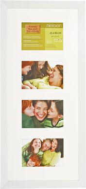 60x25cm Nielsen Essentielles White Picture Frame & Mount, 4 Photos (RW4829005)