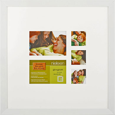 40x40cm Nielsen Essentielles White Picture Frame & Mount, 5 Photos (RW4881005)