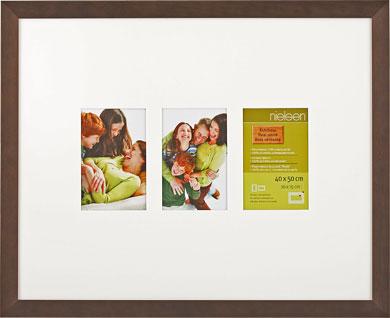 50x40cm Nielsen Essentielles Palisander Picture Frame & Mount, 3 Photos (RW4882003)