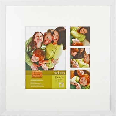 50x50cm Nielsen Essentielles White Picture Frame & Mount, 4 Photos (RW4883005)